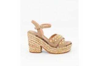 Sandalo con Tacco Taupe Ver Alma Blu v21bl5000 39495 sandalo donna alma en pena (1)