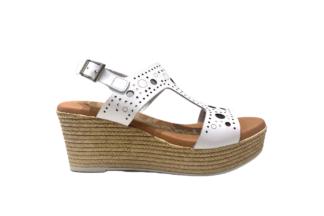 Sandalo zeppa bianco traforato Maria - oh! my sandals 4867 bianco sandalo da donna (1)