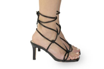 Sandalo nero con tacco Amì sandalo moda estivi (3)