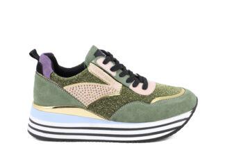 Sneakers Green con lacci Queen Helena Marcell scrpe per la donna comode X25-38_GREEN (1)