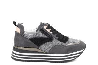 Sneakers Grey con lacci Queen Helena Marcell scarpe sportive da donna X25-38_GREY (1)