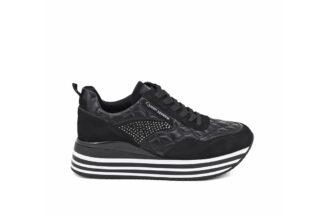 Sneakers Nere con lacci Queen Helena Ilary X25-39_BLACK scarpe da donna comode (1)