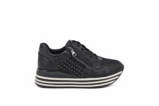 Sneakers Nere con lacci Queen Helena Isabela scarpe comode da donna X25-42_BLACK (1)