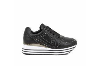Sneakers con lacci Queen Helena Nere Scarpette comode invernali da donna X25-40 (1)