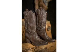 Stivaletto Texano Marrone Vintage Madison stivale texano in pelle