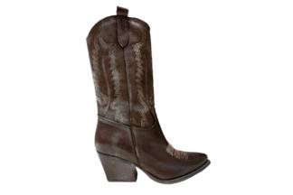 Stivaletto texano Marrone Vintage Madison stvale alla moda per la donna in vera pelle (1)