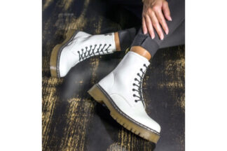 Anfibi bianchi da donna White scarpe da donna (2)